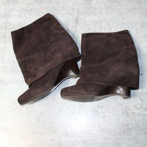 Naughty Monkey Folded Suede Ankle Boots sz 8